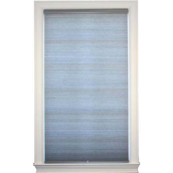 """Store alvéolaire obscurcissant double 63,5""""x 72"""", gris/blanc"""