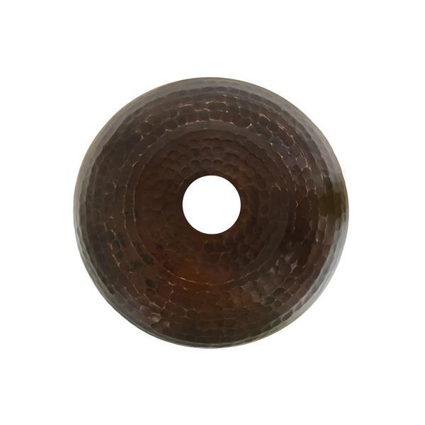 """Abat-jour en forme de globe, 7"""", cuivre"""