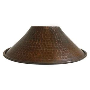 """Abat-jour en forme de cône , 9"""", cuivre"""