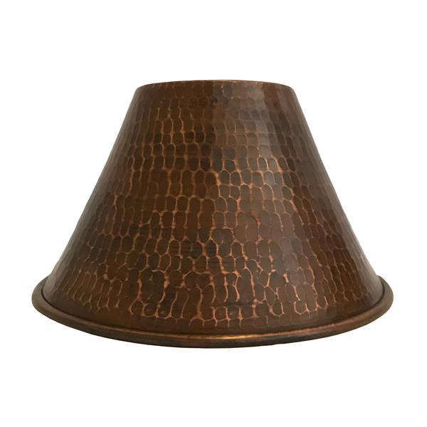 """Abat-jour en forme de cône, 7"""", cuivre"""