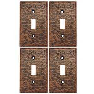 Premier Copper Products Single Wall Plate - Copper - 4 PK