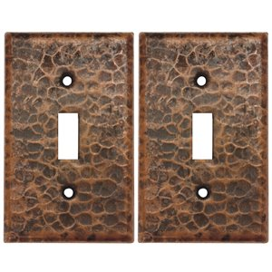 Premier Copper Products Single Wall Plate - 2 PK - Copper