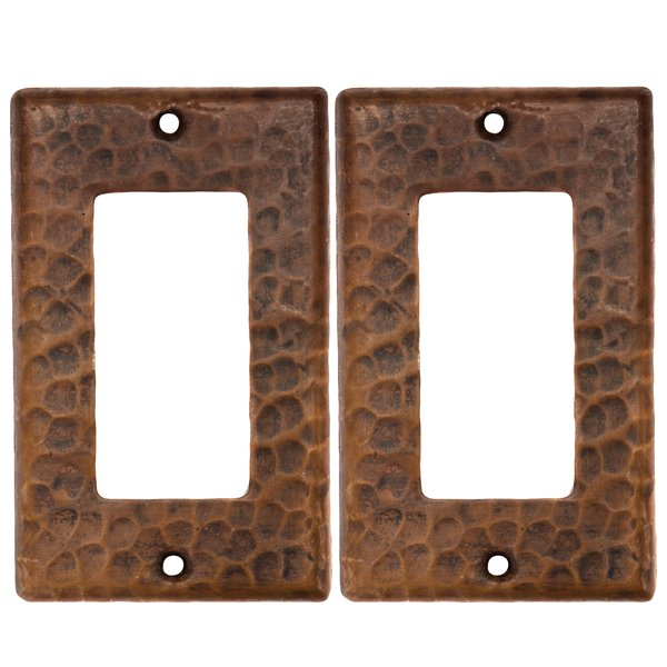 Premier Copper Products Copper Wall Plate - Ground Fault/Rocker GFI -  2 PK