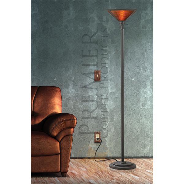 Plaque murale en cuivre pour rocker simple, 4 pqt