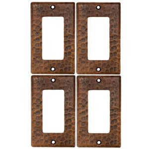 Premier Copper Products Copper Wall Plate - Ground Fault/Rocker GFI  -  4 PK