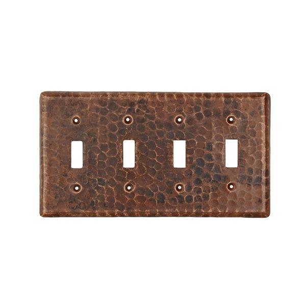 Plaque murale en cuivre pour interrupteur quadruple