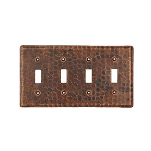 Premier Copper Products Quadruple Wall Plate - Copper