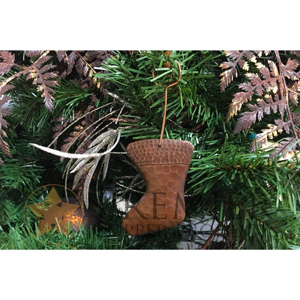 Premier Copper Products Copper Stocking Christmas Ornament -  6 PK