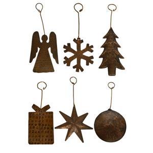 Ornements de Noël en cuivre, assortiment de 6