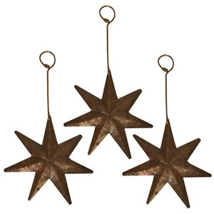 Ornement de Noël en cuivre, étoile, 3 pqt