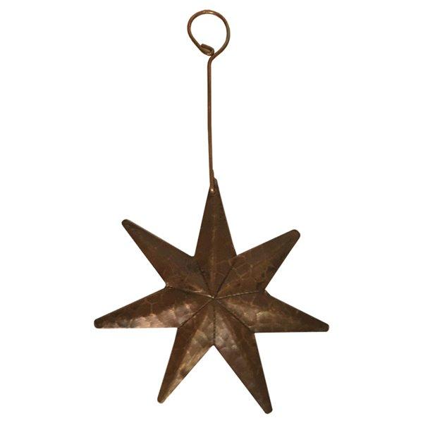 Premier Copper Products Copper Star Christmas Ornament - 6 PK