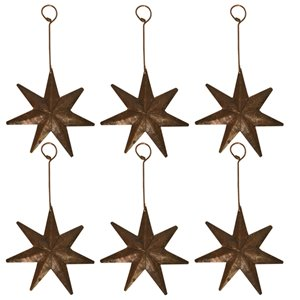 Premier Copper Products Copper Star Christmas Ornament - 6 PK