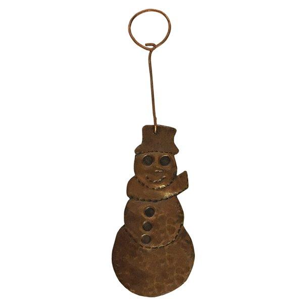 Premier Copper Products Copper Snowman Christmas Ornament -  6 PK