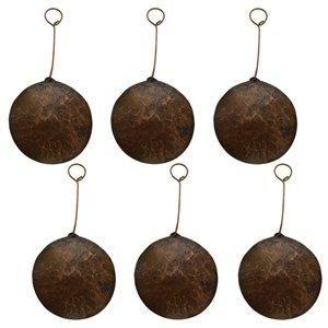 Premier Copper Products Copper Christmas Ornament - 6 PK