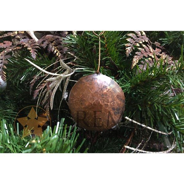 Premier Copper Products Round Copper Christmas Ornament -  3 PK