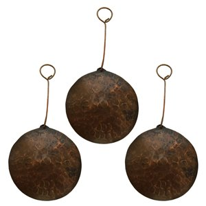 Premier Copper Products Round Copper Christmas Ornament -  3 PK