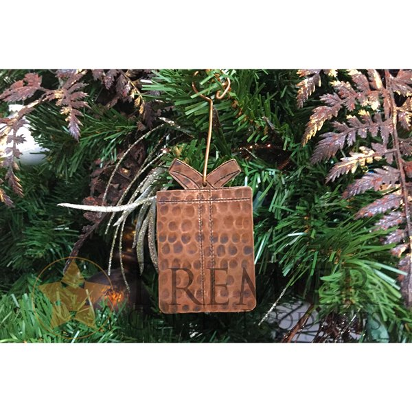 Premier Copper Products Copper Present Christmas Ornament - 6 PK