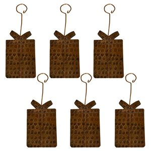 Premier Copper Products Copper Present Christmas Ornament - 6 PK