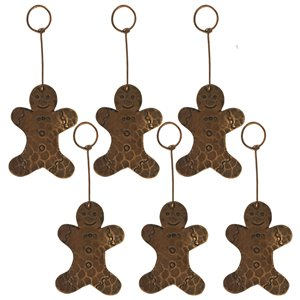 Premier Copper Products Copper Gingerbread Christmas Ornament - 6 PK