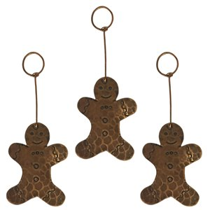 Premier Copper Products Copper Gingerbread Christmas Ornament - 3 PK