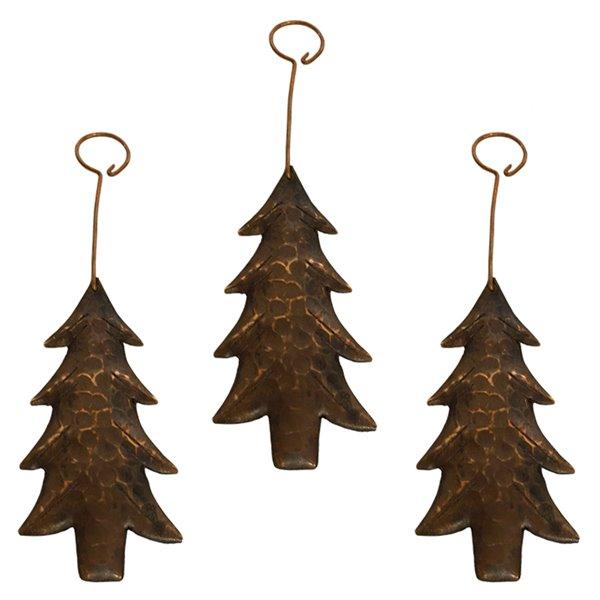 Premier Copper Products Copper Christmas Tree Ornament - 3 PK