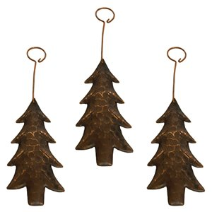 Premier Copper Products Copper Christmas Tree Ornament - 3 PK