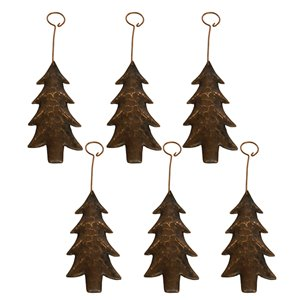 Premier Copper Products Copper Christmas Tree Ornament - 6 PK
