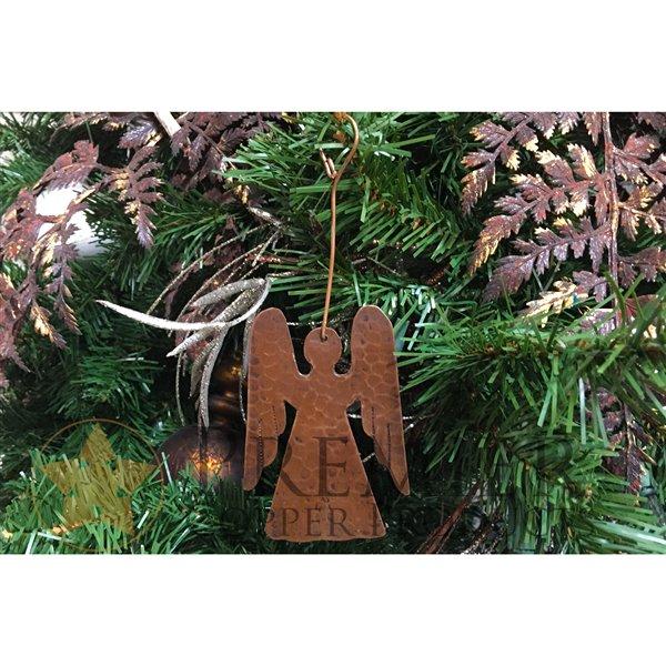 Ornement de Noël en cuivre, ange, 3 pqt