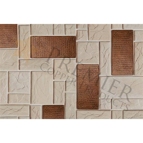 Premier Copper Products Copper Tiles - 3-in x 6-in - 4 PK