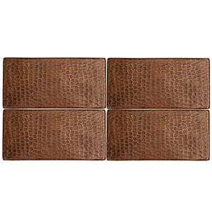 Premier Copper Products Oil Rubbed Bronze Copper Tile 1-in x 8-in (8 pack)