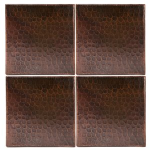 Premier Copper Products Copper Tiles - 6-in x 6-in - 4 PK