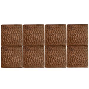 Premier Copper Products Copper Tiles - 3-in x 3-in - 8 PK