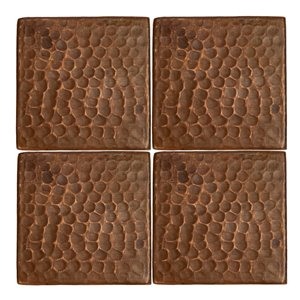 Premier Copper Products Copper Tiles - 3-in x 3-in - 4 PK