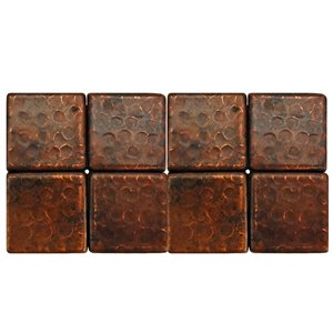 Premier Copper Products Copper Tiles - 2-in x 2-in - 8 PK
