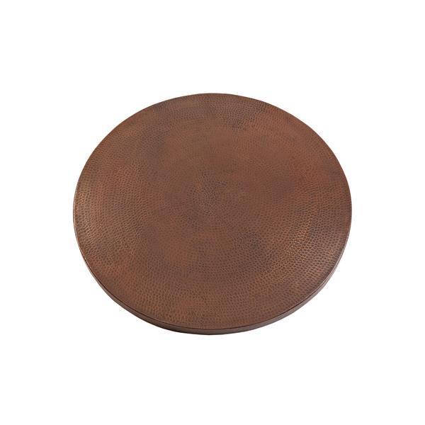 """Plateau de table rond en cuivre, 30"""""""