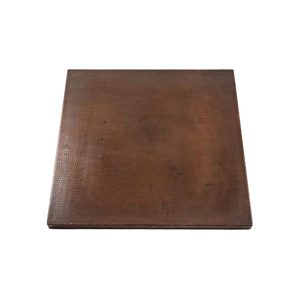 """Plateau de table carré en cuivre, 30"""""""