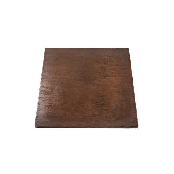 """Plateau de table carré en cuivre, 24"""""""