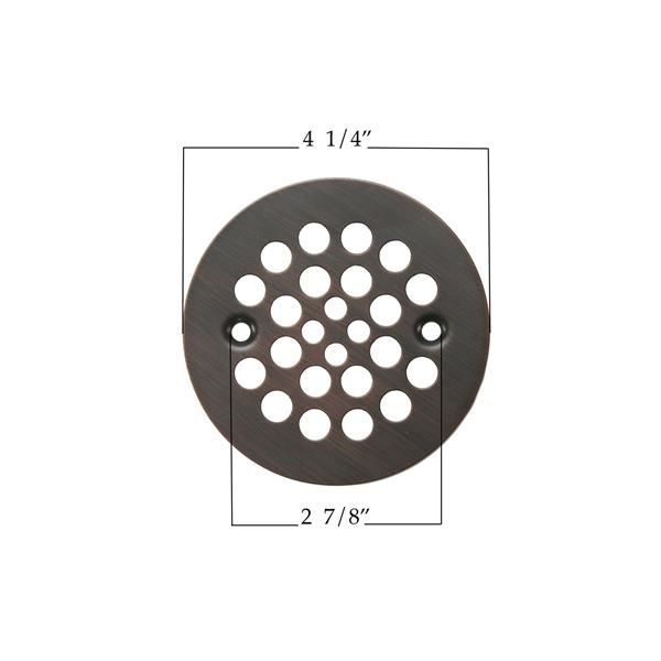 Premier Copper Products 4.25-in Round Shower Drain Cover in Oil Rubbed Bronze