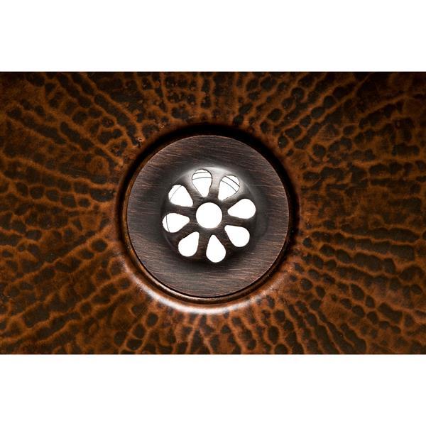 Drain de grille de 1,5po pour évier sans trop-plein-bronze