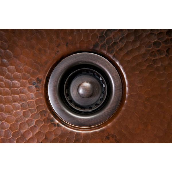 Drain de évier de bar 3,5 po avec crépine - bronze huilé