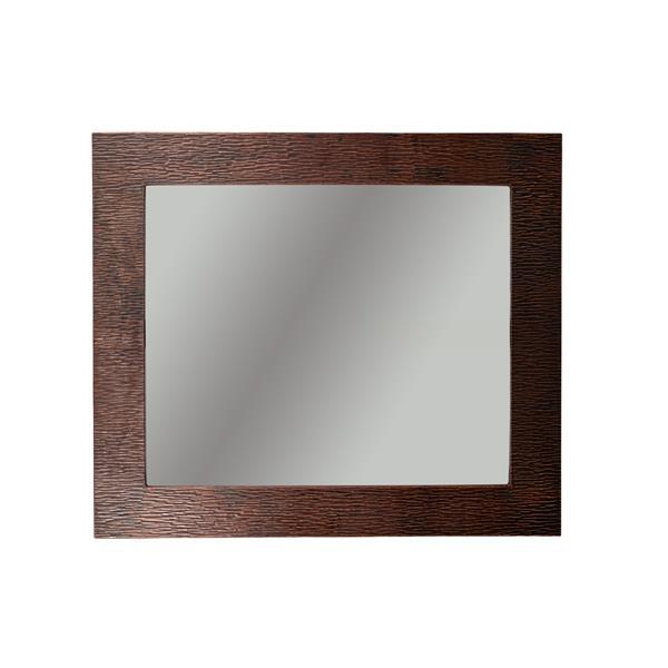"""Miroir rectangulaire en cuivre, 36"""""""