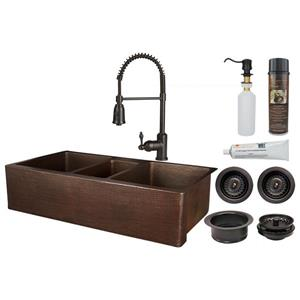 Premier Copper Products Copper Kitchen with Faucet & Drain - 42-in