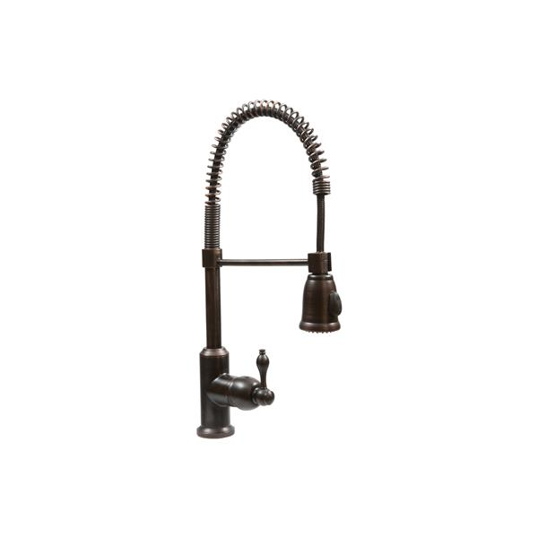 Premier Copper Products Copper Kitchen Sink with  Faucet & Drain - 35-in