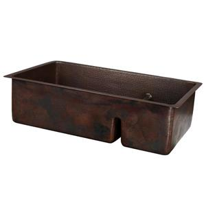 Copper Double Sink with Divider - 33