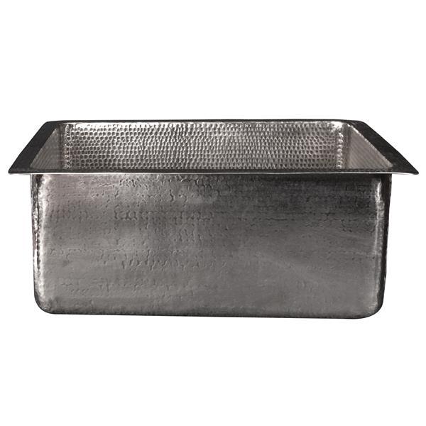 Évier de cuisine Premier Copper rectangulaire, 20 po, nickel martelé