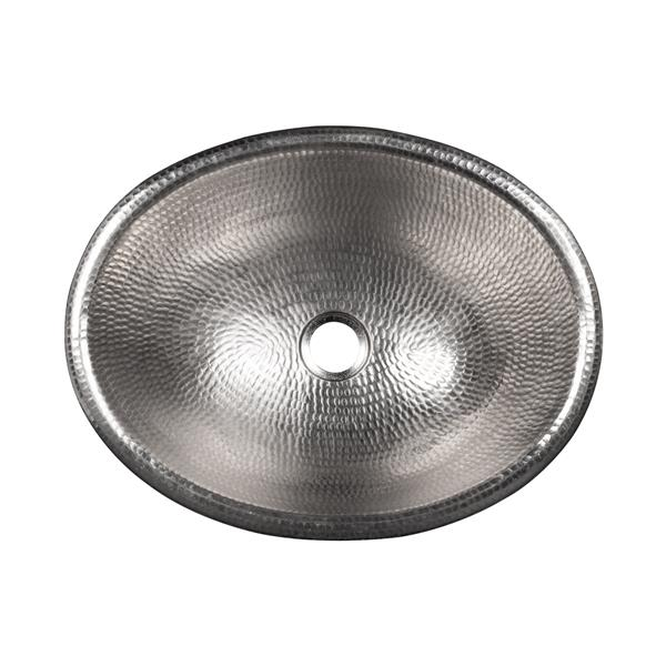 "Évier ovale, 17"", nickel"