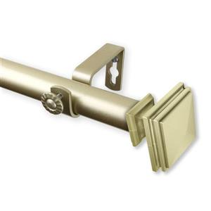 Rod Desyne Bedpost Curtain Rod - 160-240-in - 1-in - Gold