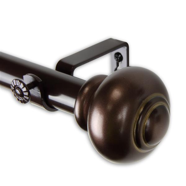 """Tringle à rideaux Bedpost, 48-84"""", 1"""", bronze"""