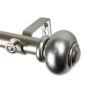 Rod Desyne Rotunda Curtain Rod - 66-120-in - 1-in - Nickel