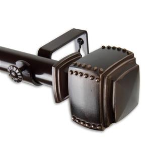 Rod Desyne Bennett Curtain Rod - 120-170-in - 1-in- Bronze